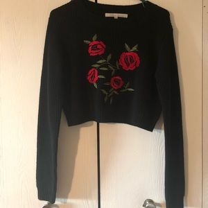 Cropped lovers+friends sweater
